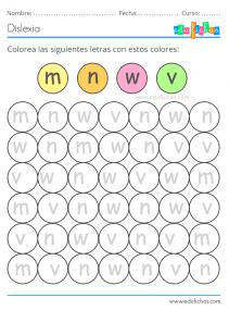 letras y colores ejercicio