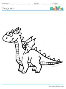 libro de dragones para colorear