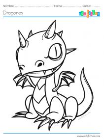 pintar dragones bonitos