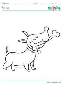 pintar perro con hueso