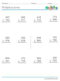 3 cifras multiplicar