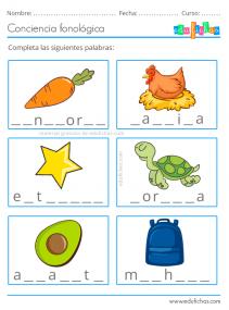 actividades de conciencia fonologica