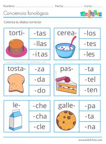 actividades silabas