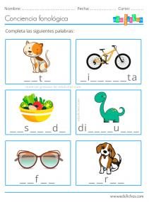 conciencia fonologica para niños