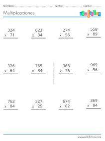 ejercicios multiplicacion gratis