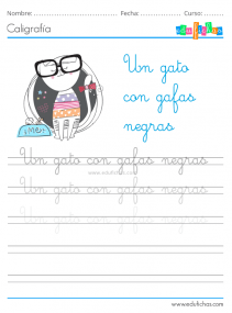 fichas de caligrafia para niños