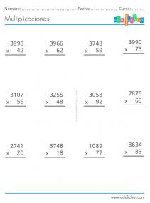 fichas para imprimir de multiplicaciones