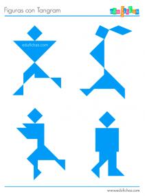 figuras personas tangram