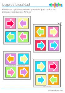 juego con flechas recortable