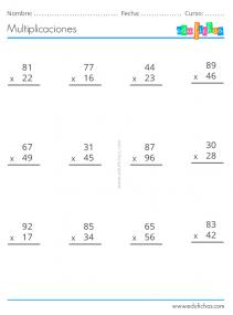 multiplicaciones dos cifras