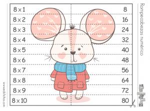multiplicar tabla 8 puzzle