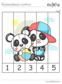 puzzle de numeros y dibujos