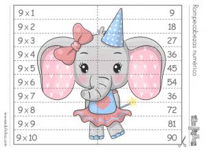 tabla multiplicar del 9 puzzle