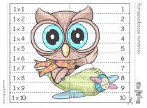 puzzle tabla de multiplicar 1
