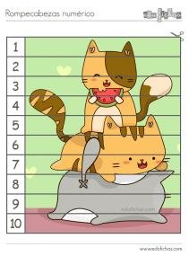 puzzles de dibujos con numeros