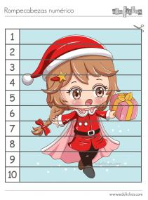 rompecabezas numerico de Navidad