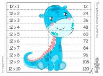 rompecabezas numérico tabla del 12