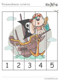 rompecabezas numericos del 1 al 5