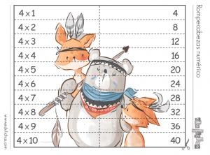 rompecabezas tablas de multiplicar