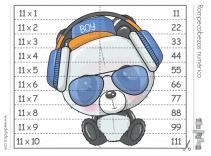 tabla del 11 rompecabezas
