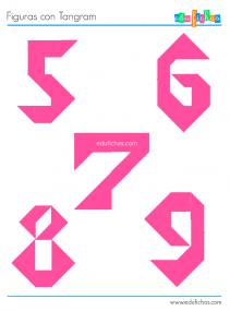 tangram números