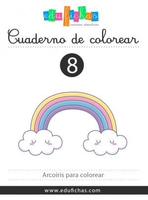 arcoiris para colorear PDF