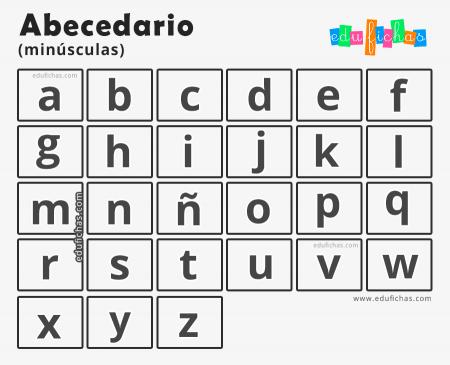 colorear letras minusculas