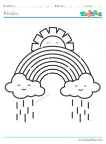 dibujos de nubes y arcoiris