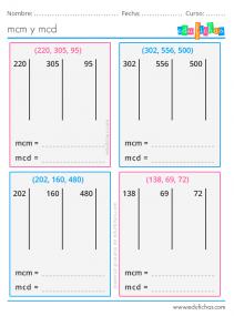 ejercicios mcd y mcm