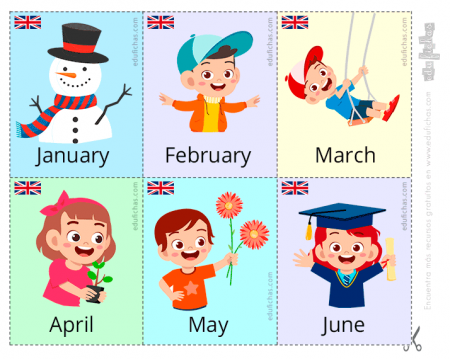 meses del año en inglés