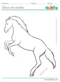 caballos bonitos para colorear