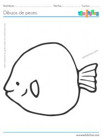 dibujo de un pez para collage
