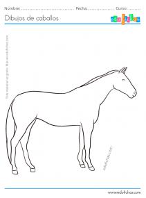 dibujo realista de caballo