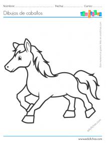 dibujos de caballos gratis