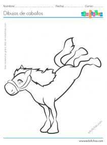 dibujos de caballos para pintar