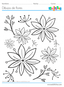 dibujos de flores para decorar