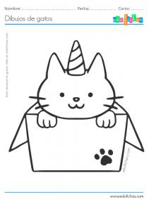 dibujos de gatitos lindos
