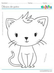 dibujos de gatos bonitos
