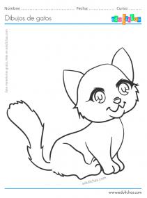 dibujos de gatos para ninos
