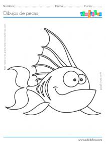 dibujos de peces gratis