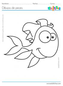 dibujos de peces para niños