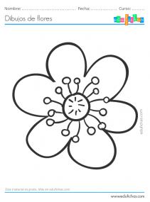dibujos fáciles de flores