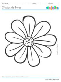 dibujos infantiles de flores