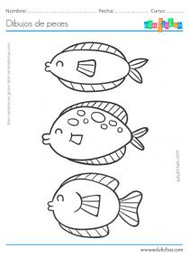 dibujos para colorear de peces