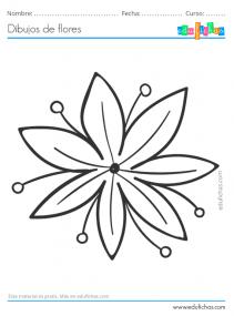 flores fáciles para niños