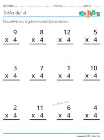 multiplicaciones x4