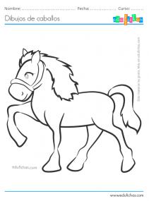 imprimir dibujos de caballos