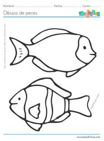 imprimir dibujos de peces
