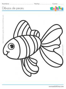 imprimir pez para colorear