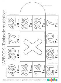 triptico de la tabla del 7